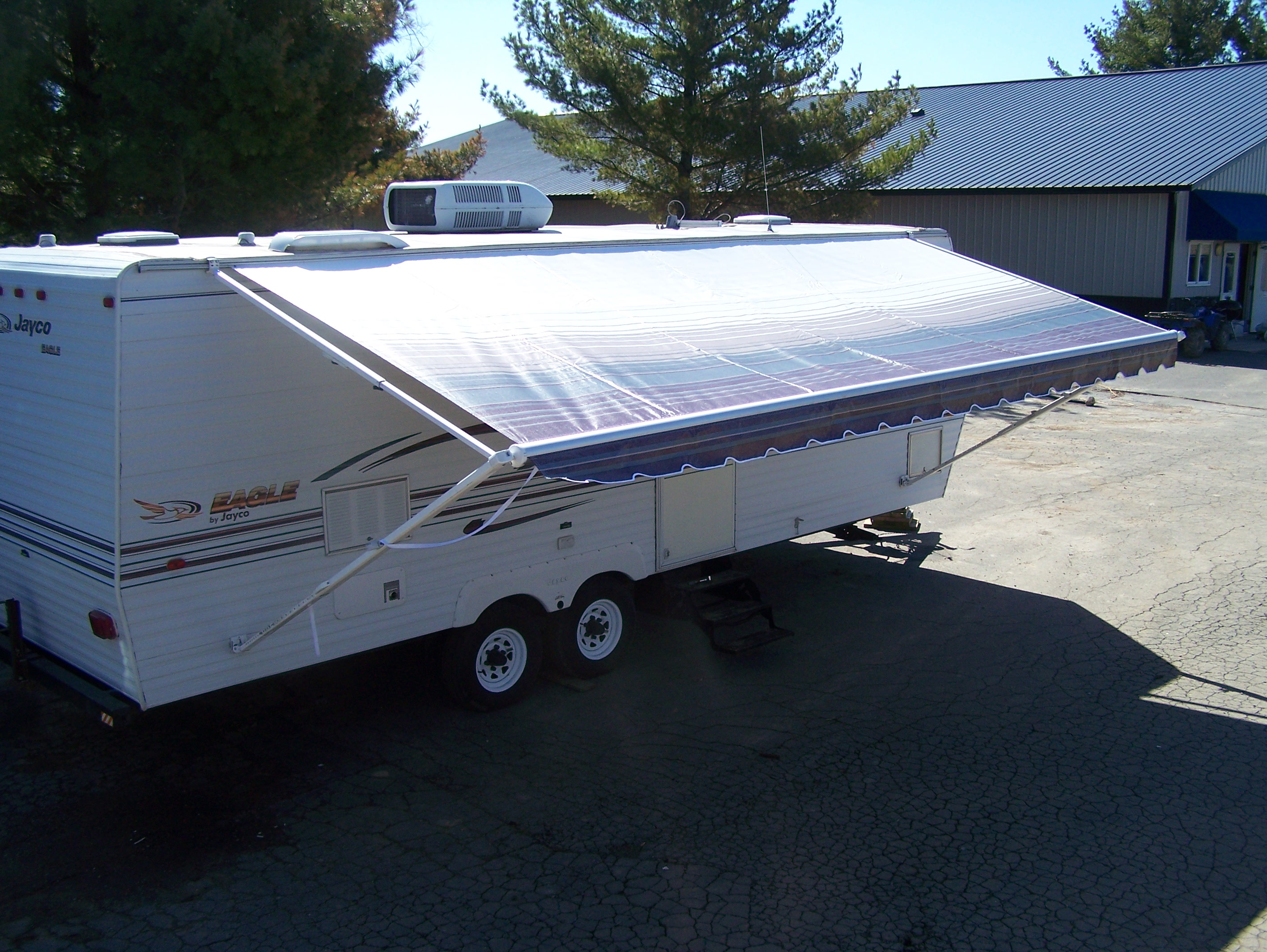 ROLLUP AWNING, COMPLETE 14' X 8'